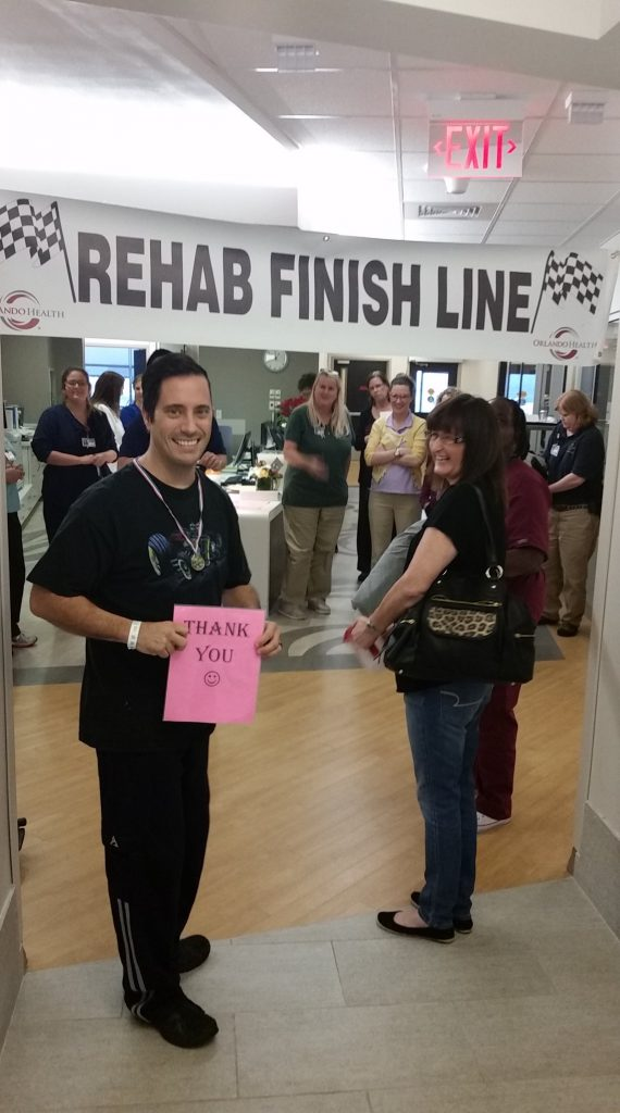 Glenn crosses the rehab finish line
