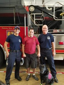 Glenn reunites with the first responders